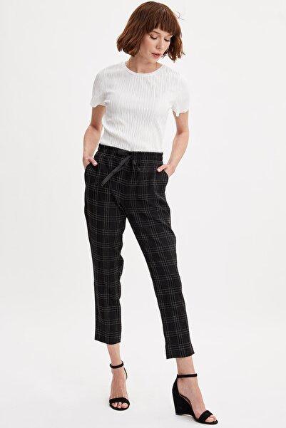 DeFacto Oversize Fit Desenli Chino Pantolon