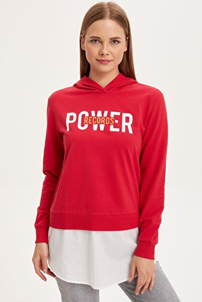 DeFacto Kadın Modest Kırmızı Kapüşonlu Tunik L3326AZ.19SM.RD72