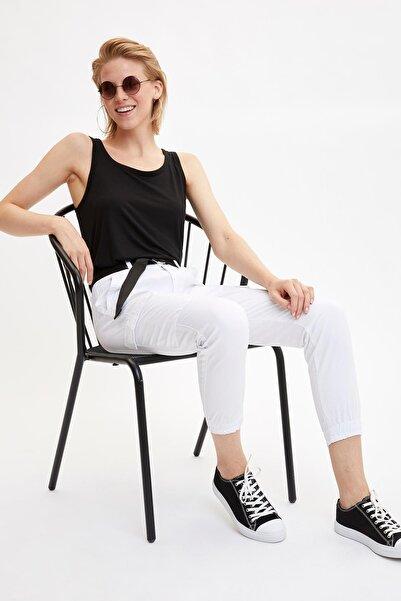 DeFacto Kadın Beyaz Jogger Pantolon L6284AZ.19SM.WT34