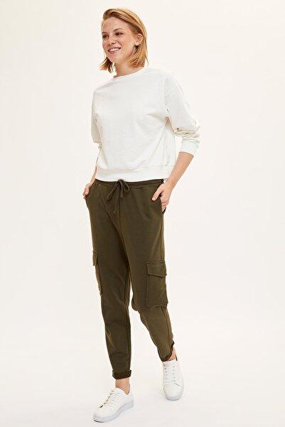 DeFacto Kadın Haki Rahat Kalıp Örme Pantolon L8022AZ.19AU.KH211