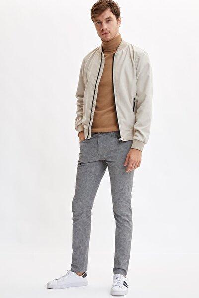 DeFacto Erkek Antrasit Slim Fit Basic Pantolon
