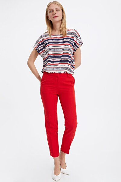 Kadın Kırmızı Slim Fit Pantolon L4587AZ.19SM.RD79