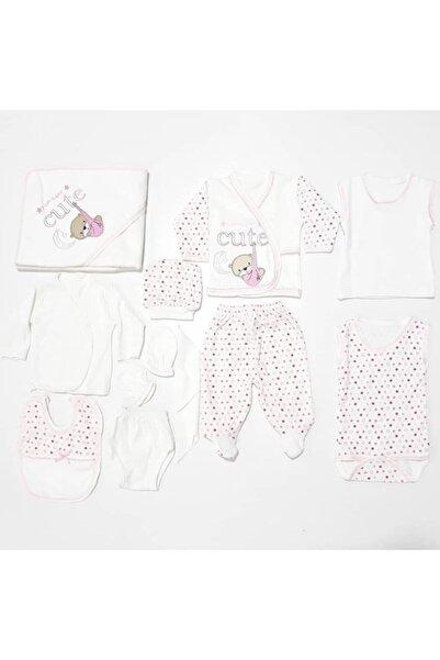 bebegen Kız Bebek Pembe Ayıcıklı 11 Parça Hastane Çıkış Seti