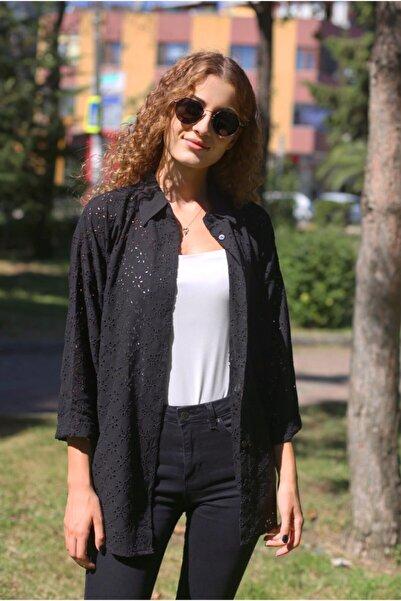 NİCE Kadın Siyah Fisto Gömlek