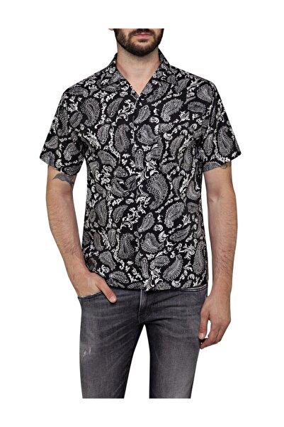 Replay Erkek Siyah Desenli Gömlek