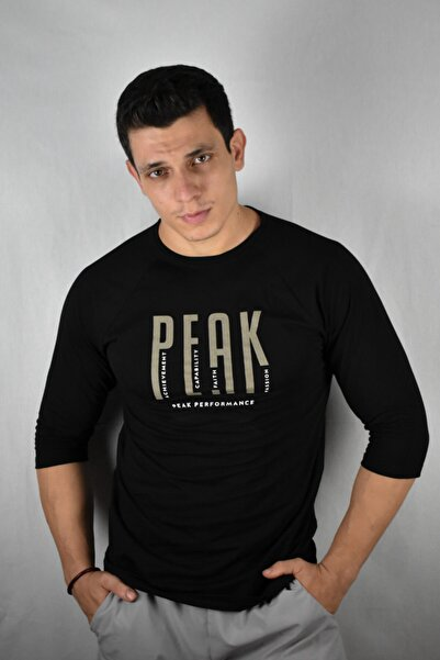Peak Wear Siyah Peak Reglan Tshirt