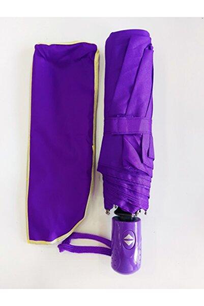 Umbrella Şemsiye Mor Tam Otomatik Rüzgarda Kırılmayan