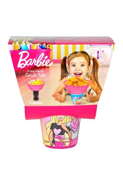 Cosargroup Barbie Lisanslı Patlamış Mısır Cips Kovası+pipetli Bardak Tuppex