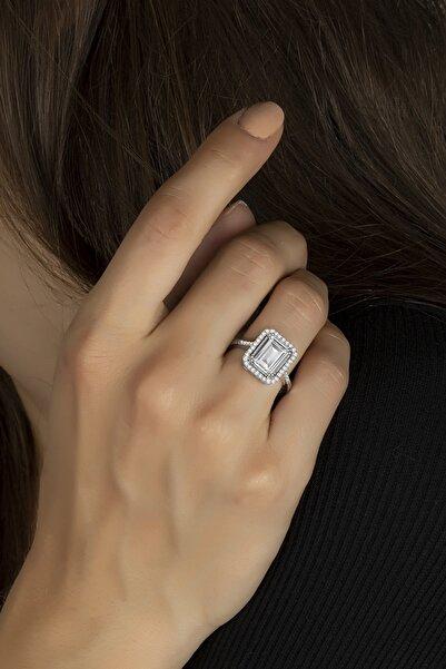 Else Silver Klasik Tasarım Baget Taşlı Gümüş Yüzük