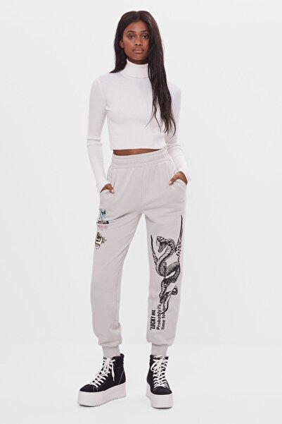 Bershka Kadın Baskılı Jogging Fit Pantolon