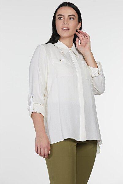 Kayra Kadın Ekru Bluz