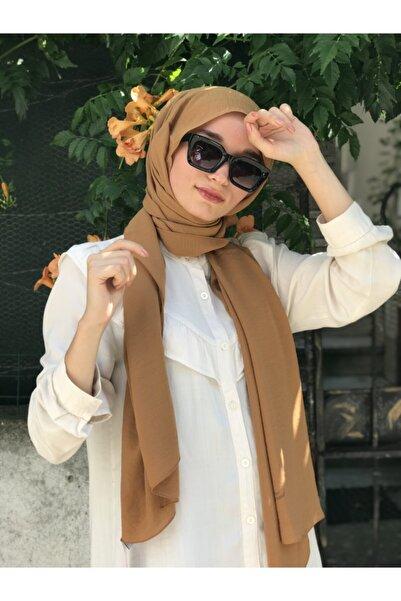 Armine Kadın Koyu Camel Trend Cazz Şal