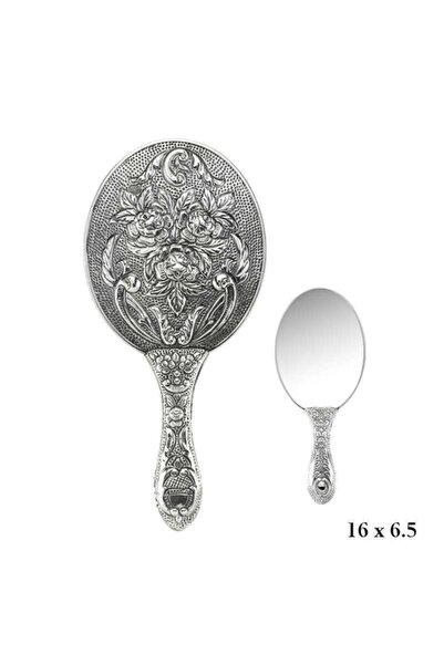 Gumush Gümüş 925 Ayar Gül Desenli El Aynası