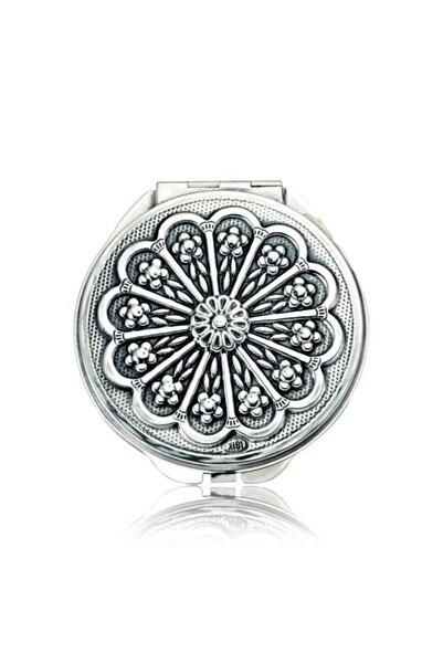 Gumush Gümüş Papatya Motifli Kapaklı El Aynası