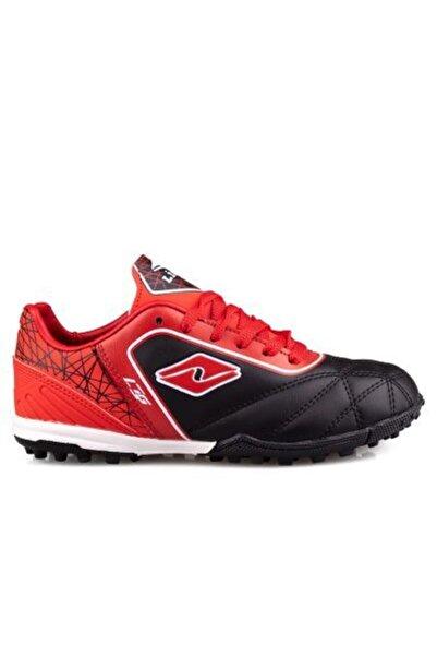 Lion Erkek Çocuk Siyah Kırmızı Halı Saha Ayakkabısı