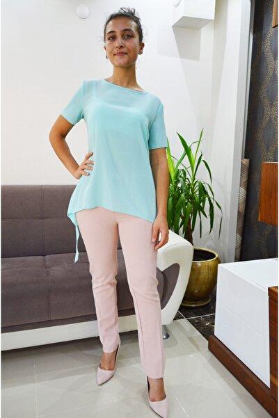 zeynep Kadın Mint Yeşili Sırt Detaylı Bluz