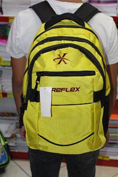 Reflex Paraşüt Kumaş Okul Çantası Sarı ( Su Geçirmez )