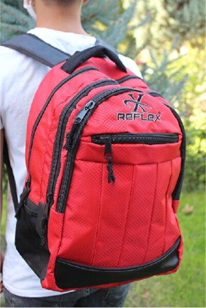 Reflex Paraşüt Kumaş Okul Çantası Kırmızı ( Su Geçirmez )