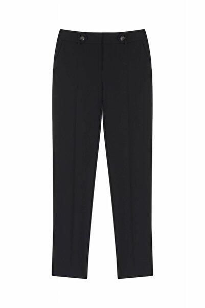 İpekyol Kadın Siyah Klasik Kesim Pantolon  IW6200003092