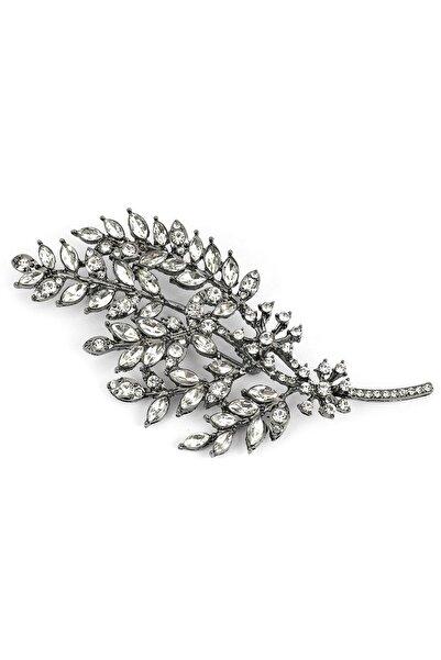İpekyol Kadın Metalik Yaprak Figür Broş  IW6200057011