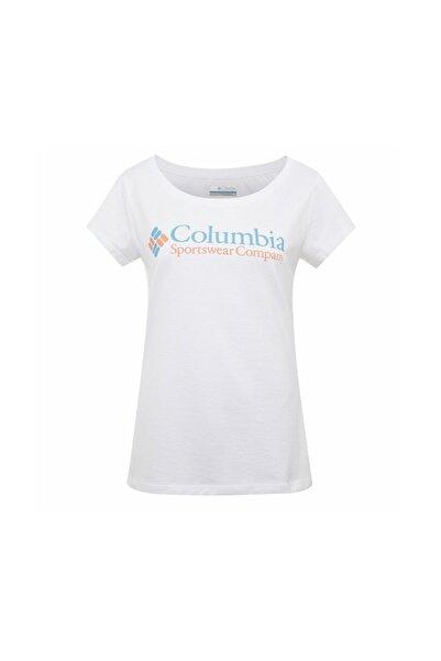 Columbia Kadın Beyaz Cs0040 Csc W Brand Retro Ss Tee