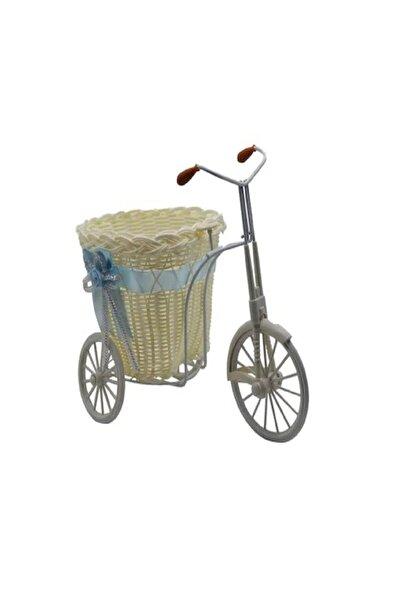 DENİZ Bebek Şekeri Için Pembe Hasır Sepetli Bisiklet 30x28x15 cm