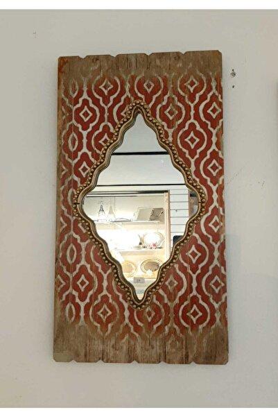 Pasifik P098.854739 Dekoratif Kırmızı Beyaz Gold Ayna