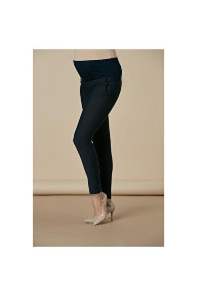 Görsin Hamile Kadın Lacivert Kumaş Hamile Pantolonu