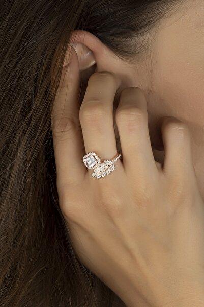 Else Silver Baget Taşlı Başak Modeli Gümüş Bayan Yüzüğü