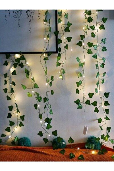 Partini Seç Dekoratif Yeşil Yapraklı Yapay Sarmaşık Gün Işığı (SICAK SARI) Led Işık, 3 Mt 30 Led