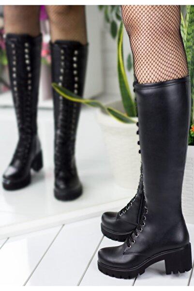 Erbilden Kadın Siyah Cilt Çizme