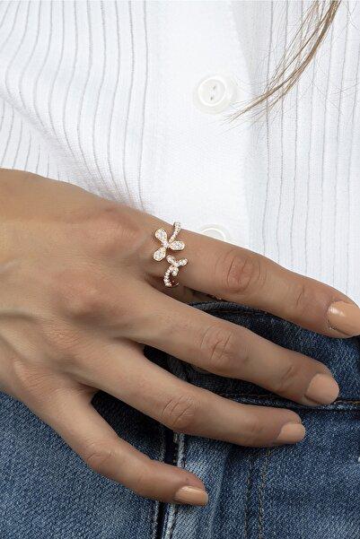 Else Silver 925 Ayar Gümüş Çiçek Gümüş Bayan Yüzüğü