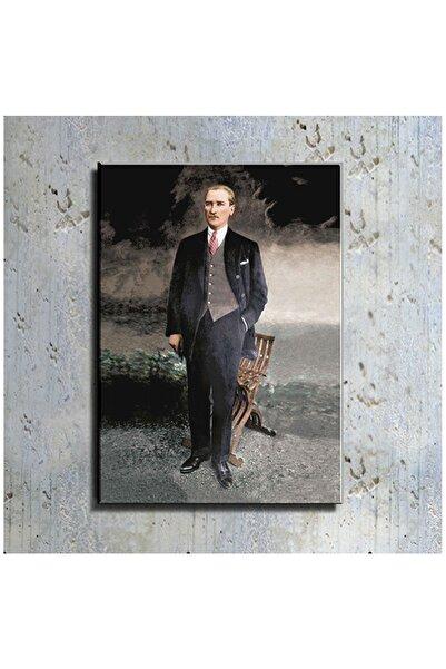 mağazacım Atatürk Takım Elbiseli Boy Resmi (70x100 Cm) Kanvas Tablo Tbl1215