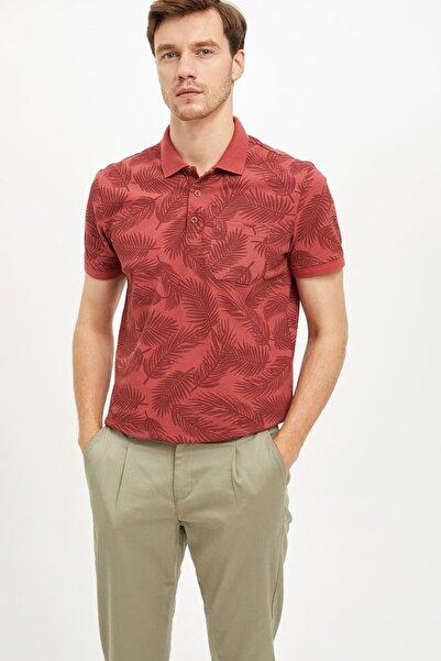 Erkek Bordo Regular Fit Polo T-Shirt K4615AZ.19SM.BR339