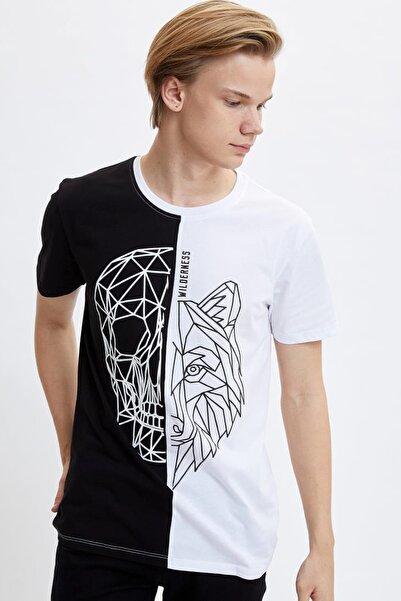 Kadın Siyah Baskılı Regular Fit T-Shirt M3672AZ.20SP.BK27