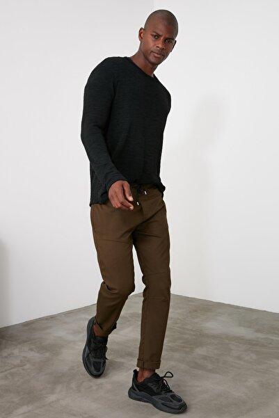 TRENDYOL MAN Haki Erkek Fermuar Detaylı Pantolon TMNAW21PL0212