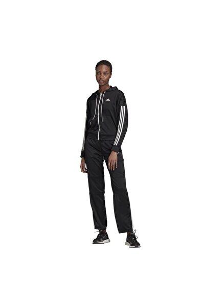 adidas Kadın Siyah Game Time Aeroready Hoodie Track Suit Eşofman Takım