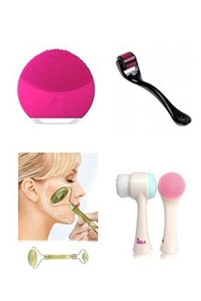 Makeuptime Yüz Temizleme Cihazı+dermaroller+yüz Temizleme Fırçası+yaşam Taşı