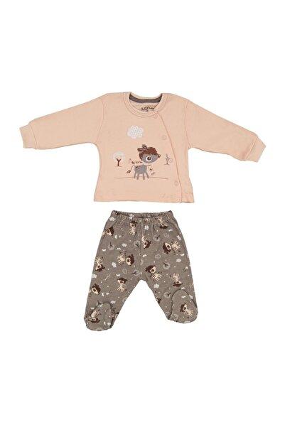 Aziz Bebe Kız Çocuk Pembe 2'li Bebek Takımı 2019