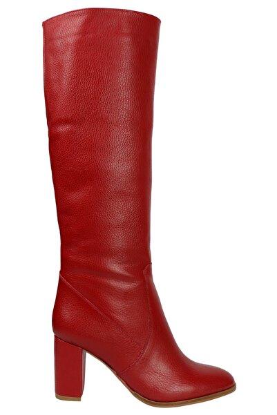 OZ DOROTHY Kadın Kırmızı Flotur Deri Çizme K-403