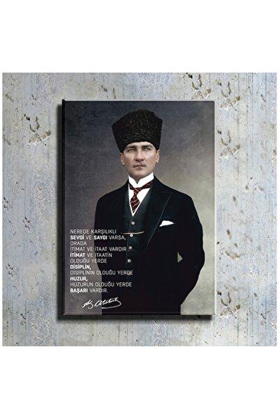 mağazacım Atatürk Takım Elbiseli Portre (40x60 Cm) Kanvas Tablo Tbl1194