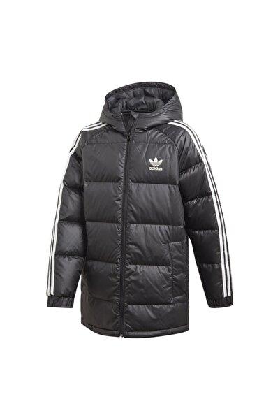 adidas Unisex Çocuk Siyah 3-stripes Down Hoodie Spor Mont