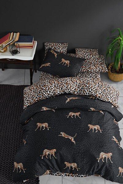 Nakkısh Siyah Leopar Tek Kişilik Nevresim Takımı
