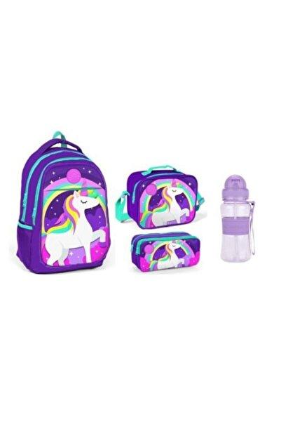 Yaygan Kids Unicorn Ilkokul-ortaokul Çanta-uzspace 300 Ml Matara-thermo Beslenme Çantası-kalemlik