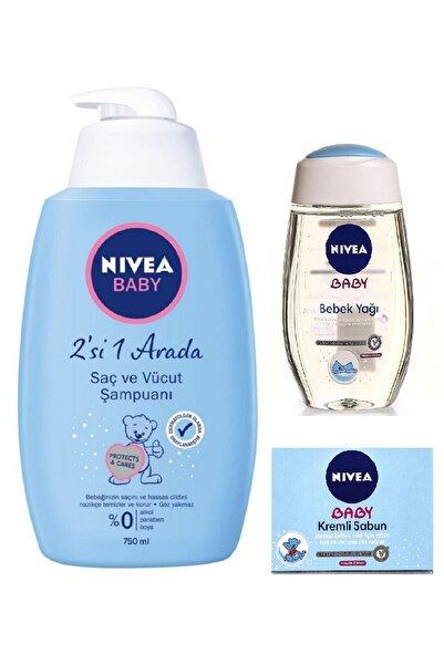 Nivea Baby 2'si 1 Arada Saç Ve Vücut Şampuanı & Bebek Yağı & Kremli Sabun Seti