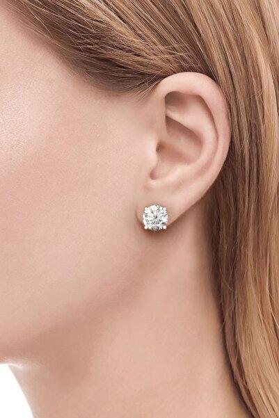 Crystal Diamond Zirconia Labaratuvar Pırlantası 1 Carat Tektaş Küpe