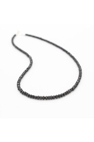 Argento 925 Ayar Gümüş Siyah Spinel Kolye