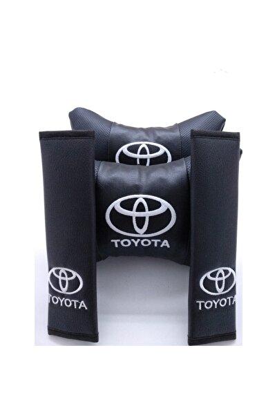 MOPS Toyota Corolla 2002-2007 Hb Lüks Deri Boyun Yastığı Ve Kemer Kılıfı
