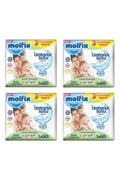 Molfix Izotonik Sulu Ferah Temizlik Islak Mendil 3x60'lı X 4 Adet