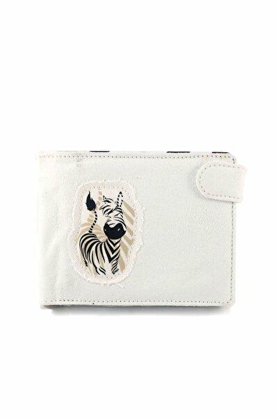NİCİ Kadın Beyaz Zebra Cüzdan Nh28733